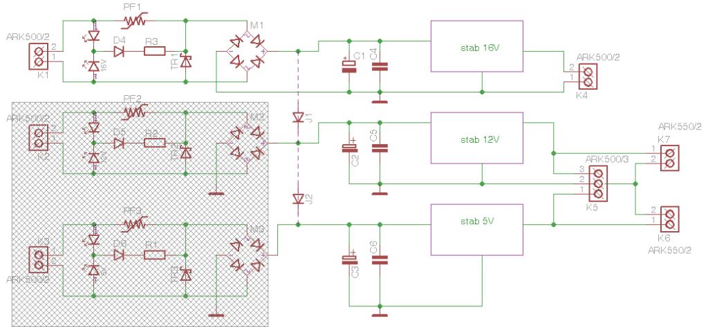 Obr. 5 - Schéma zdrojové části
