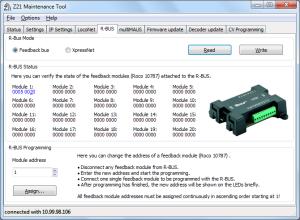 Obr.6 - Využití Z21 Maintenance Tool