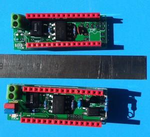 Dvě verze DCC shieldu